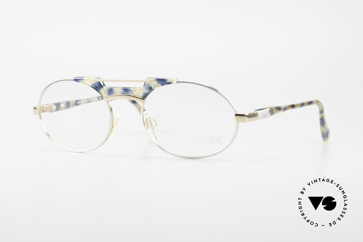 Cazal 749 Oval Designer Eyeglasses 90s, elegant Cazal designer glasses of the early 90's, Made for Men and Women