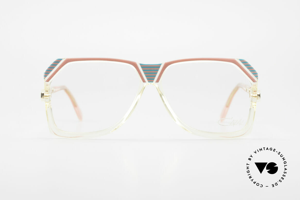 Cazal 186 80s Cazal Pink Turquois Crystal, eccentric, synthetic frame (striking play of colors), Made for Women