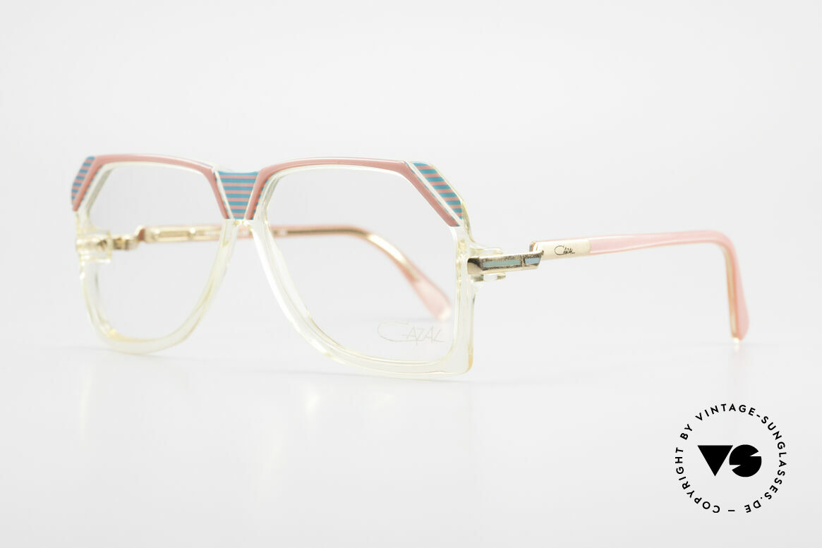 Cazal 186 80s Cazal Pink Turquois Crystal, the frame shines pink / turquoise / crystal & gold, Made for Women