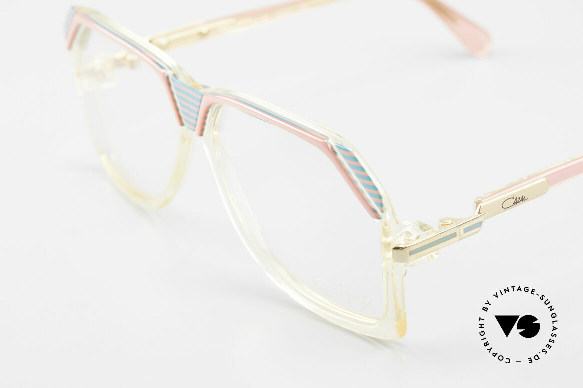 Cazal 186 80s Cazal Pink Turquois Crystal, never worn (like all our vintage Cazal eyeglasses), Made for Women