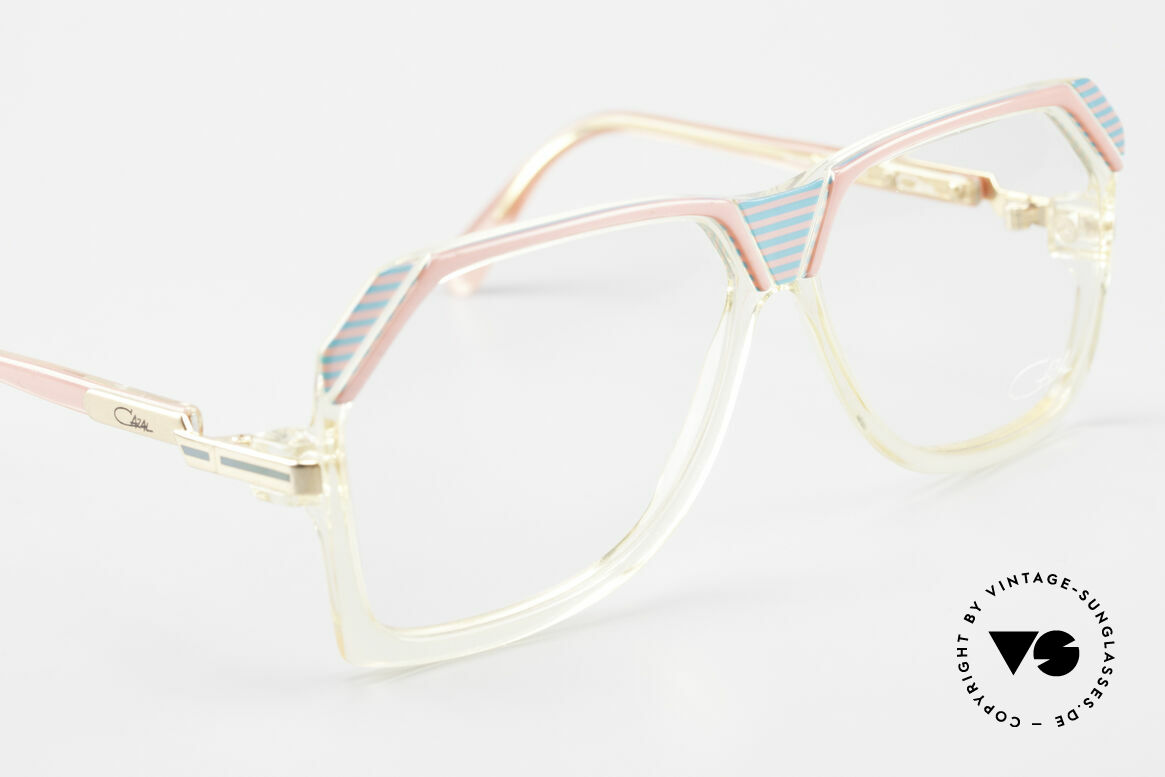 Cazal 186 80s Cazal Pink Turquois Crystal, NO retro fashion, one of a kind (app. 35 years old), Made for Women