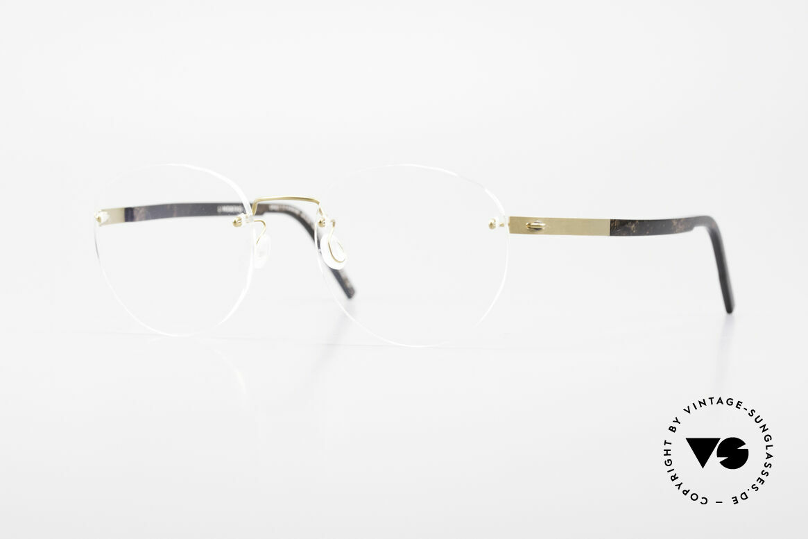 Lindberg 2110 Spirit Titan Round Rimless Titanium Frame, LINDBERG Spirit Titanium eyeglass-frame; 2110, 46, Made for Men and Women