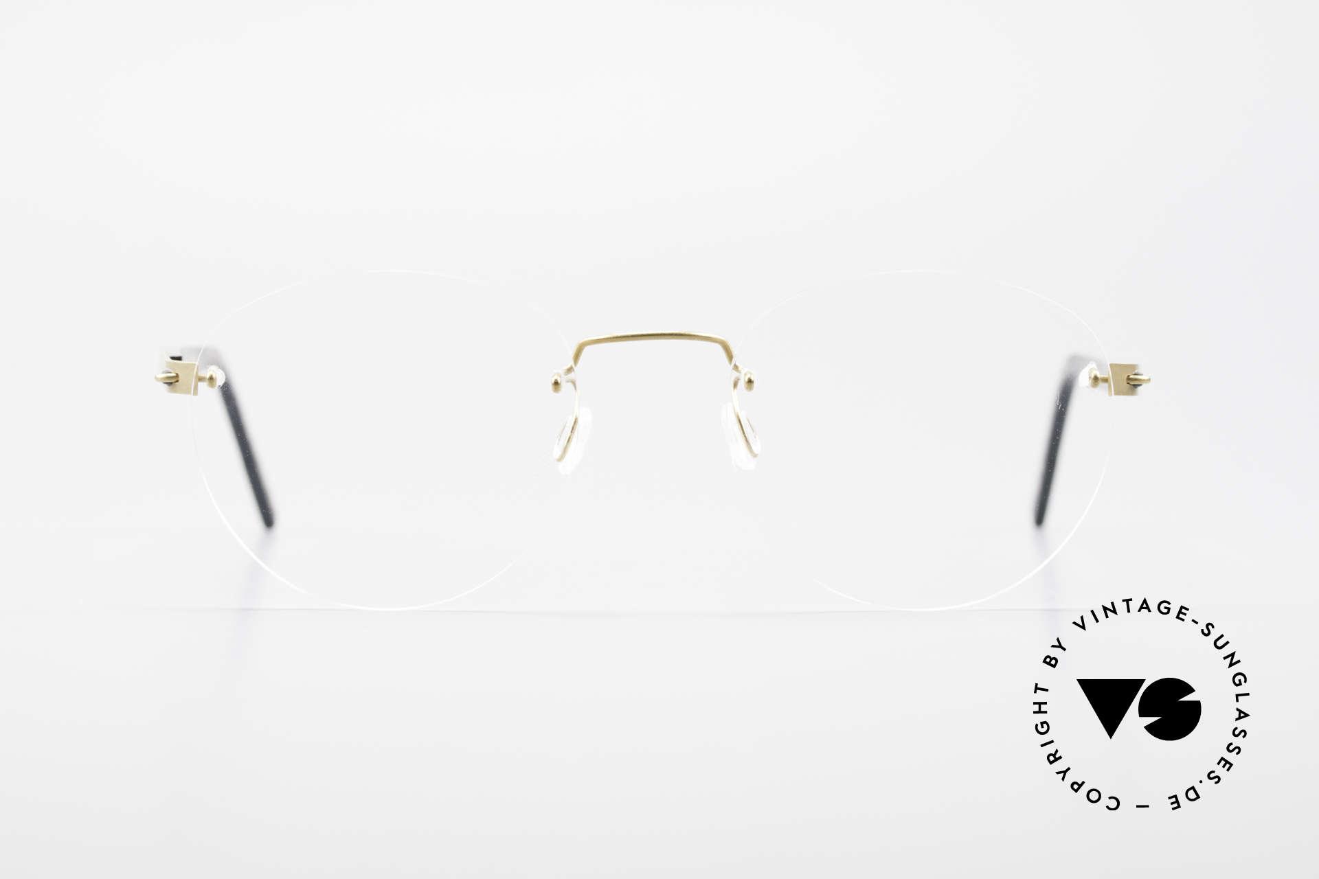 Lindberg 2110 Spirit Titan Round Rimless Titanium Frame, distinctive quality and design (award-winning frame), Made for Men and Women