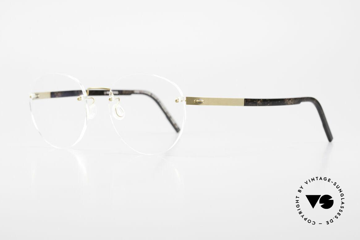 Lindberg 2110 Spirit Titan Round Rimless Titanium Frame, simply timeless, stylish & innovative: grade 'vintage', Made for Men and Women
