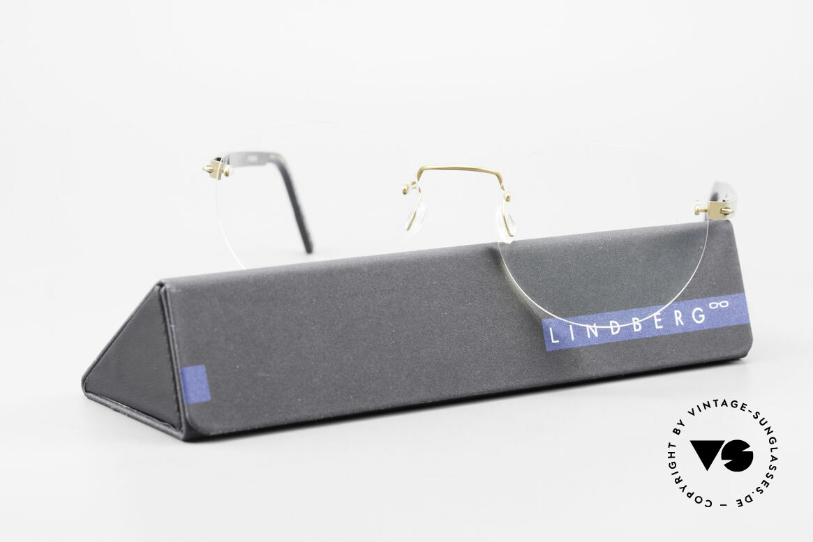 Lindberg 2110 Spirit Titan Round Rimless Titanium Frame, Size: small, Made for Men and Women