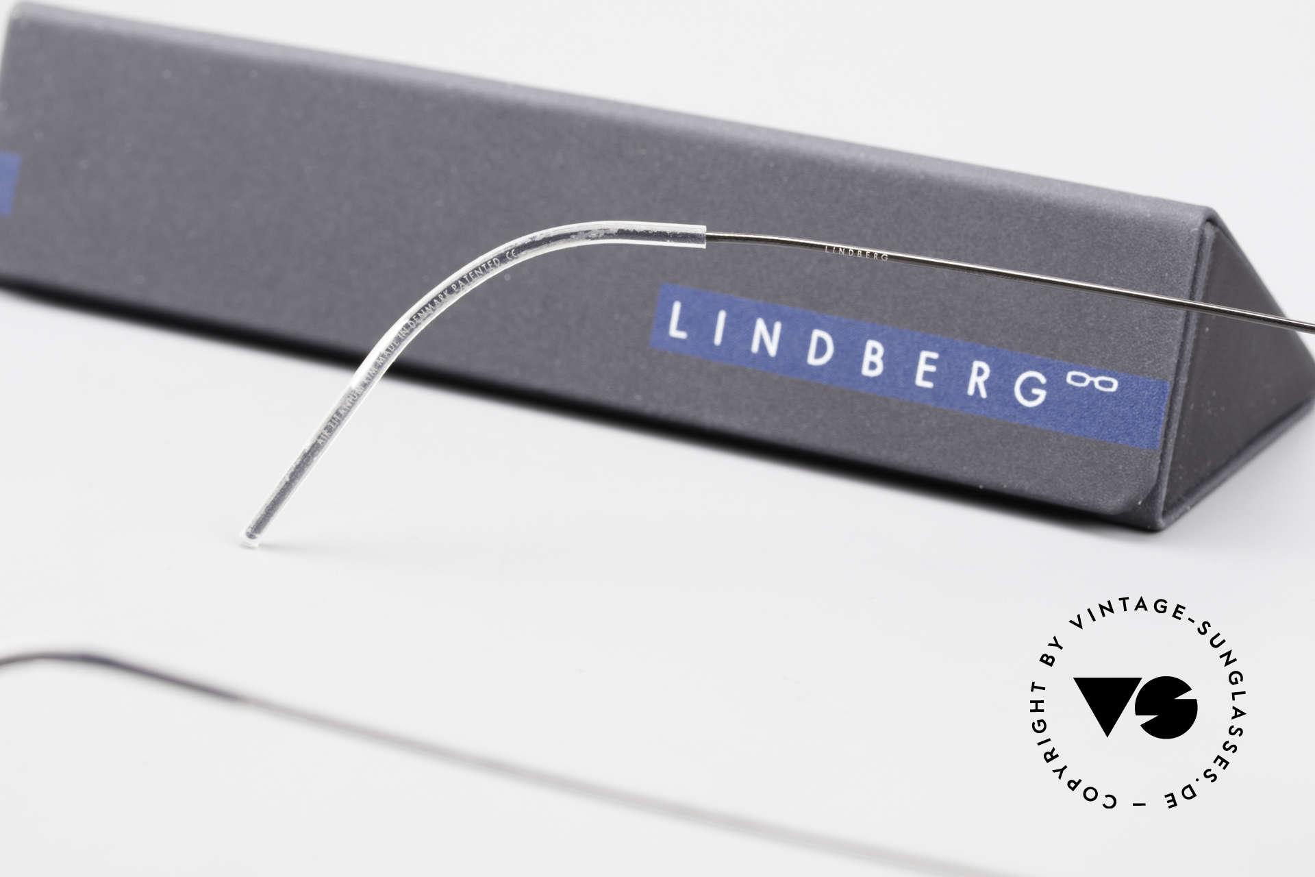 Lindberg Santi Air Titan Rim Classic Titanium Frame Men, Size: medium, Made for Men