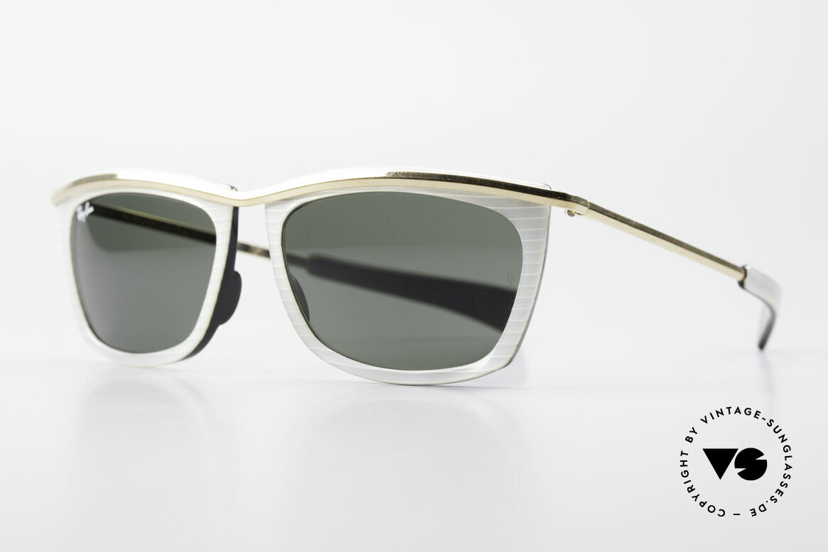 Ray Ban Olympian II B&L Ray-Ban Sunglasses USA, with B&L G15 mineral lenses; 100% UV protection, Made for Men and Women