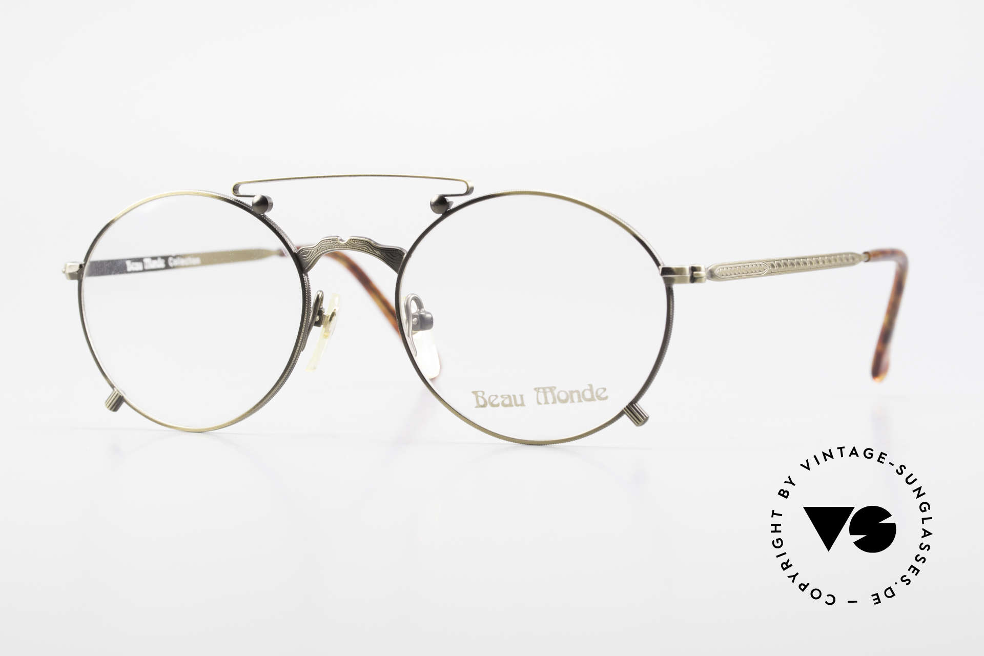 Beau Monde Knightsbridge Old Vintage Frame 90's Insider, interesting old vintage glasses of the late 80s/early 90s, Made for Men and Women