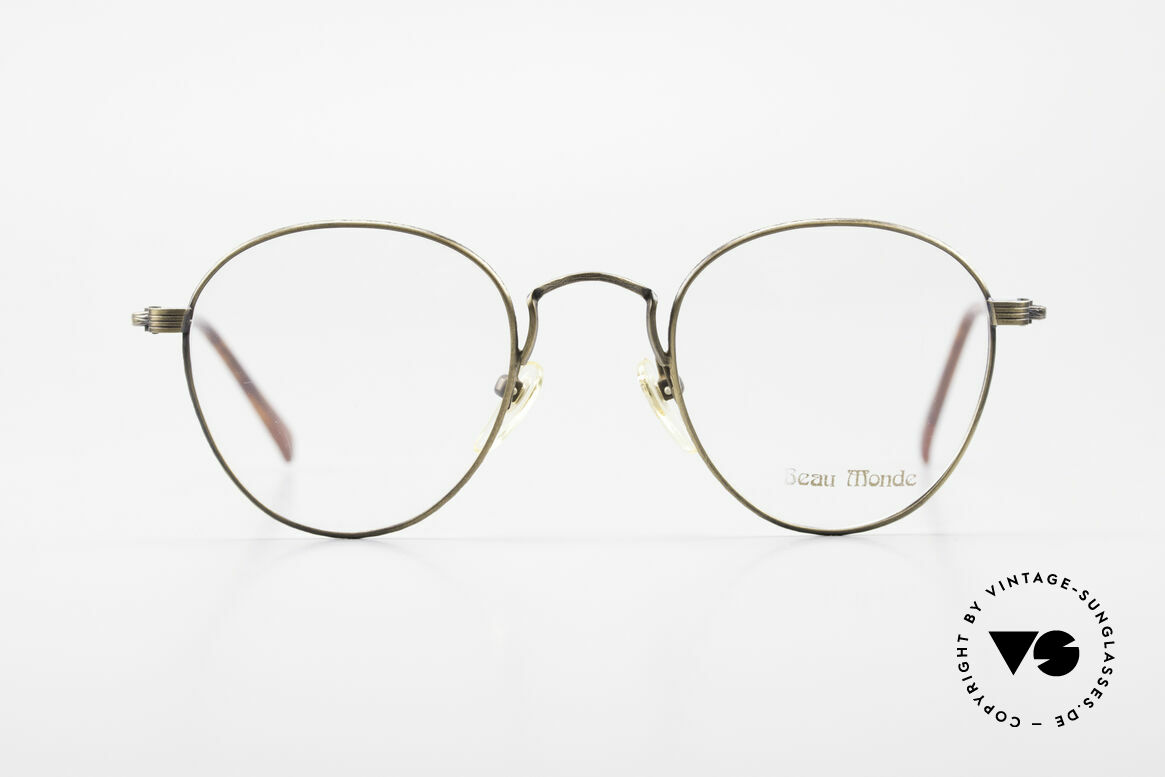 Beau Monde Sterling Old Vintage Frame 90's Panto, interesting old vintage glasses of the late 80s/early 90s, Made for Men and Women