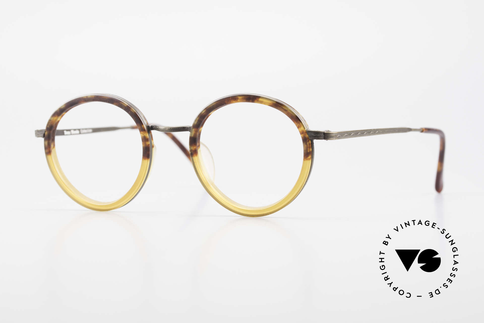 Beau Monde Rhodes Round Old Vintage Frame 90's, interesting old vintage glasses of the late 80s/early 90s, Made for Men and Women