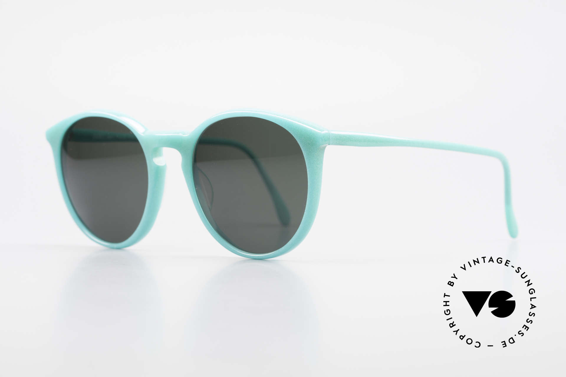 Alain Mikli 901 / 079 Green Pearl Panto Sunglasses, interesting frame color: shines like a green pearl, Made for Men and Women