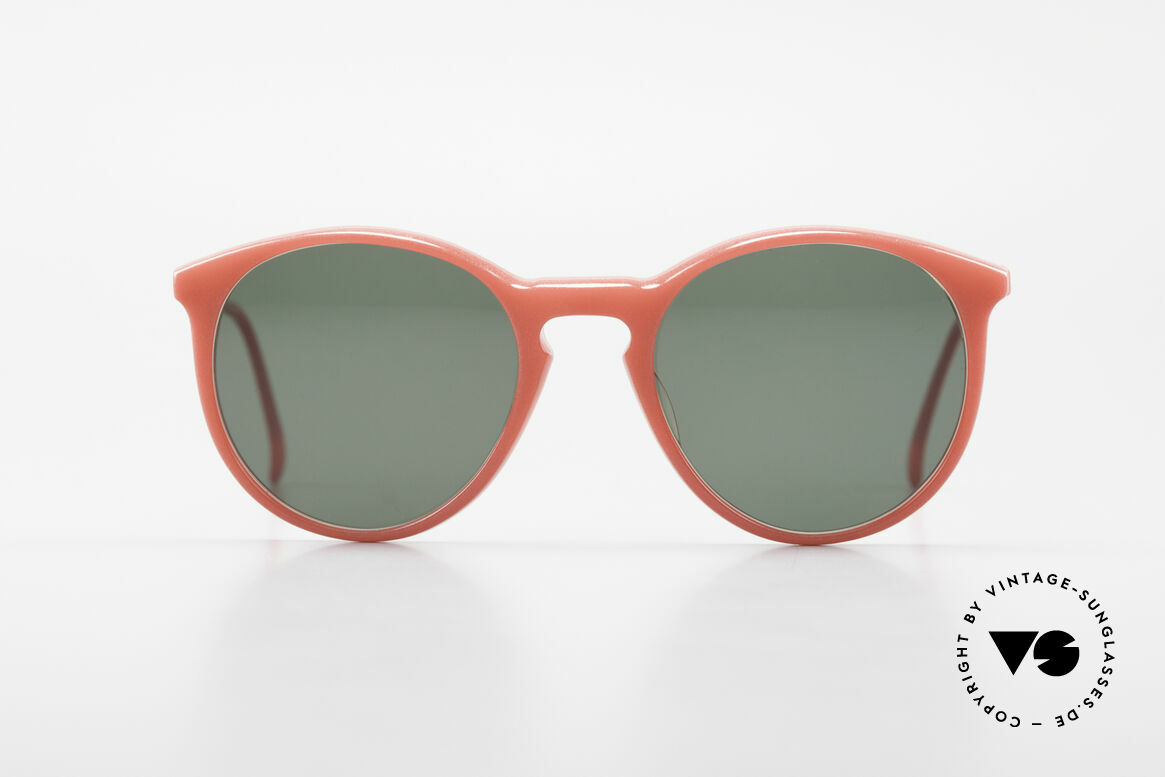 Alain Mikli 901 / 086 Red Pearl Panto Sunglasses, classic 'panto'-design with dark green sun lenses, Made for Men and Women