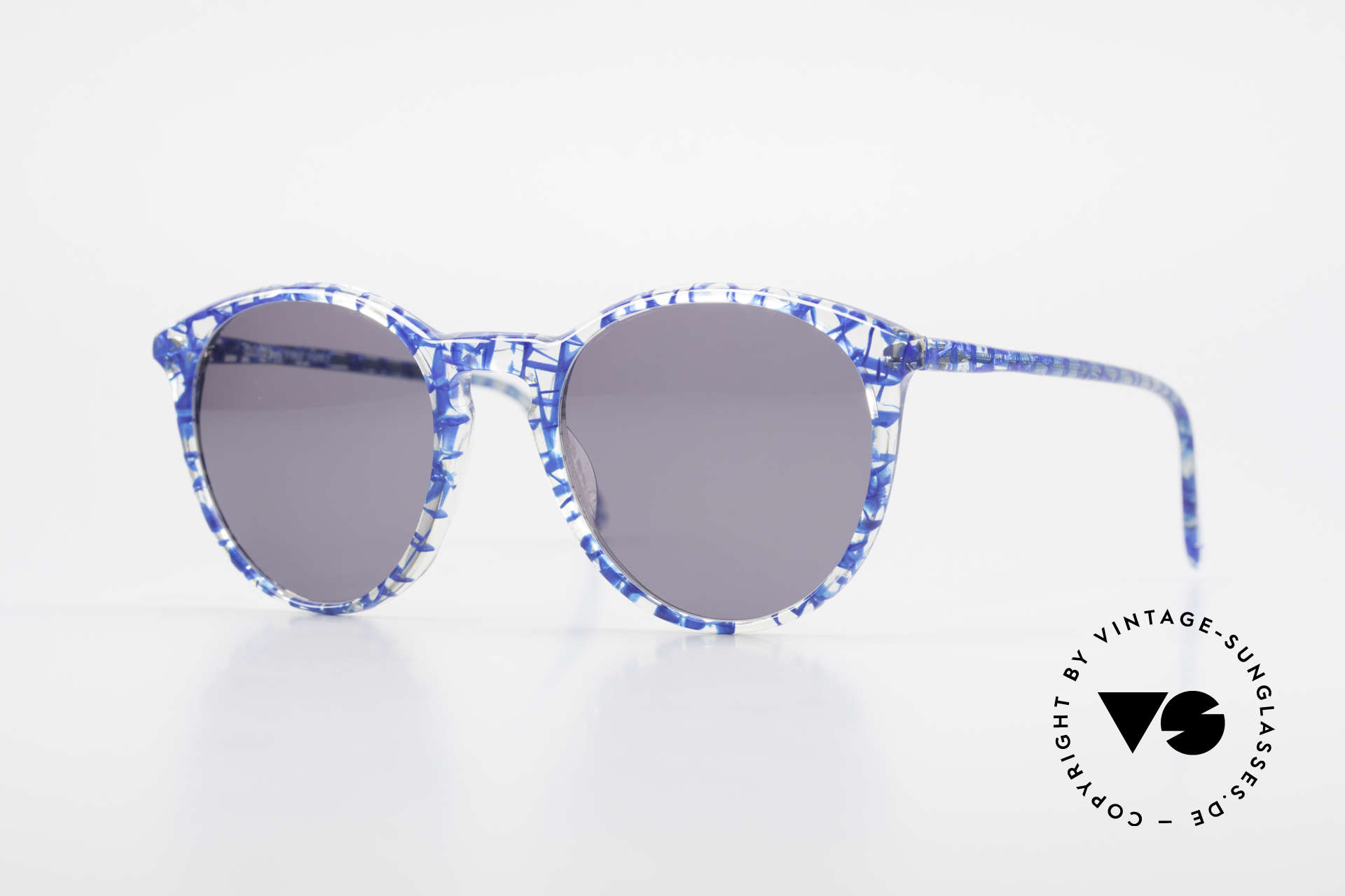 Alain Mikli 901 / 323 Panto Sunglasses Crystal Blue, elegant VINTAGE Alain Mikli designer sunglasses, Made for Men and Women