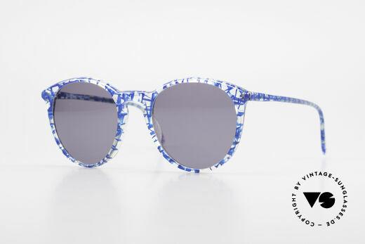 Alain Mikli 901 / 323 Panto Sunglasses Crystal Blue Details