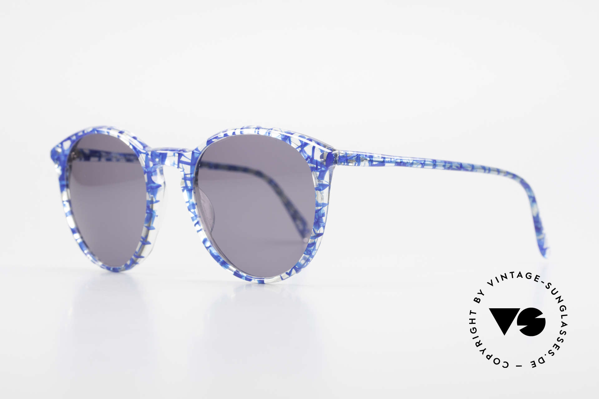 Alain Mikli 901 / 323 Panto Sunglasses Crystal Blue, terrific frame pattern looks crystal / blue netted, Made for Men and Women
