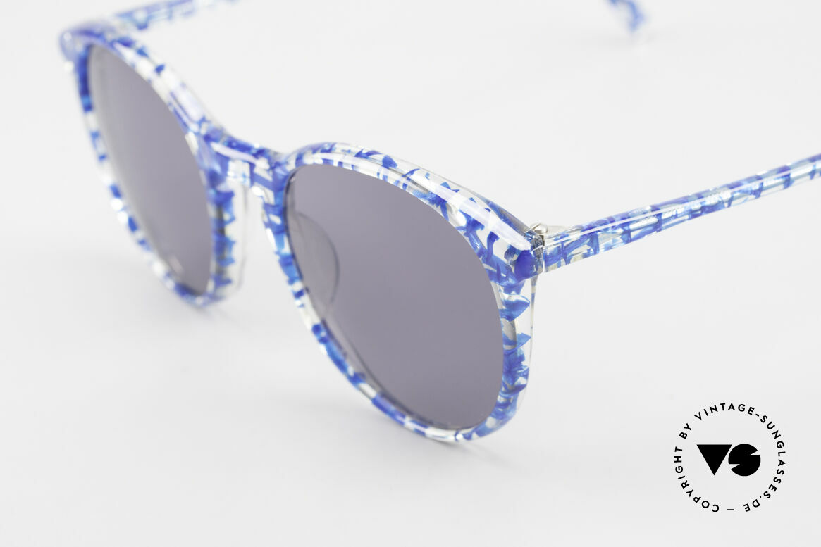 Alain Mikli 901 / 323 Panto Sunglasses Crystal Blue, handmade quality and 123mm width = SMALL size, Made for Men and Women