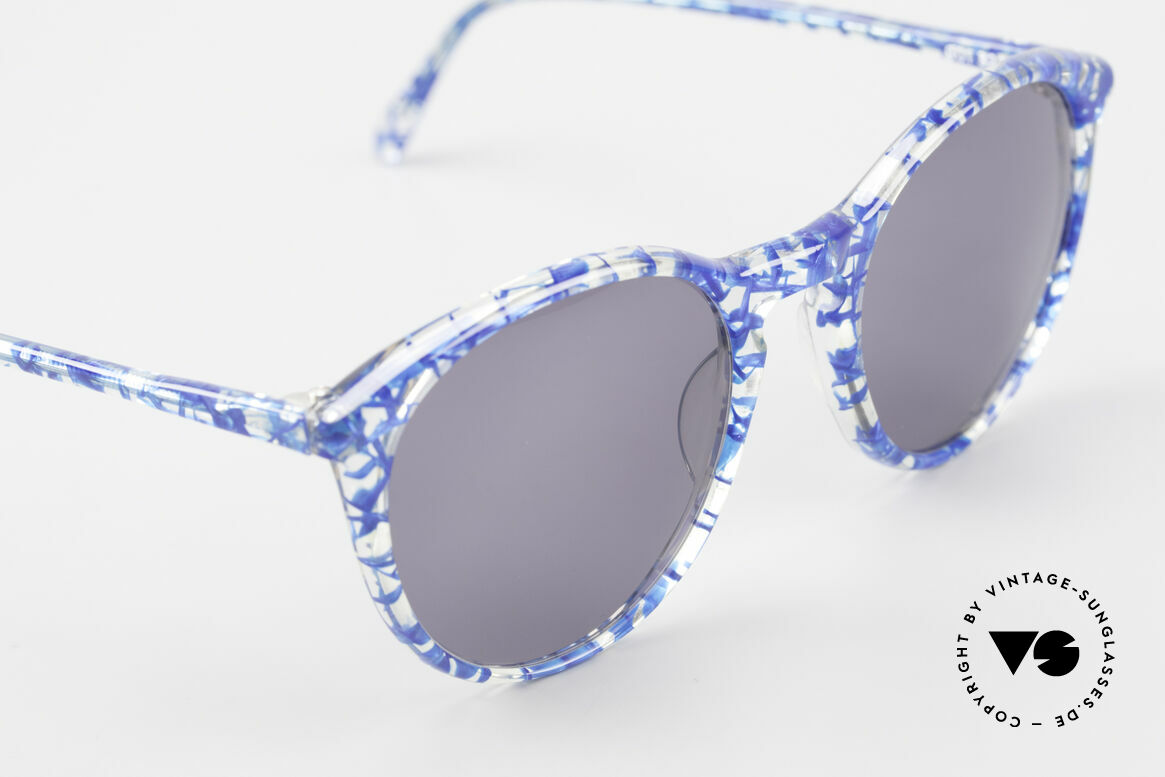 Alain Mikli 901 / 323 Panto Sunglasses Crystal Blue, never worn (like all our vintage Alain Mikli specs), Made for Men and Women