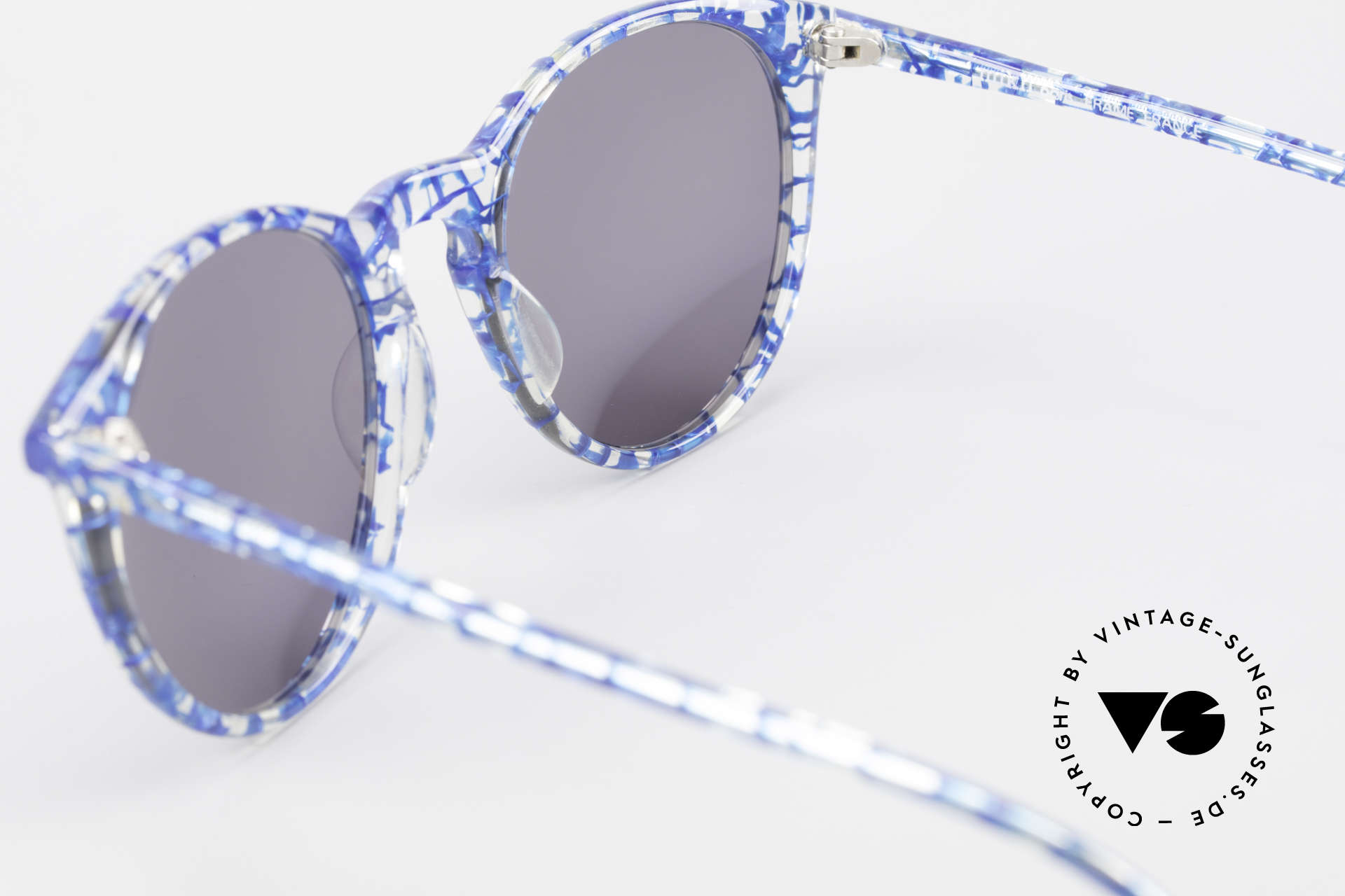 Alain Mikli 901 / 323 Panto Sunglasses Crystal Blue, NO RETRO shades, but an old ORIGINAL from 1989, Made for Men and Women