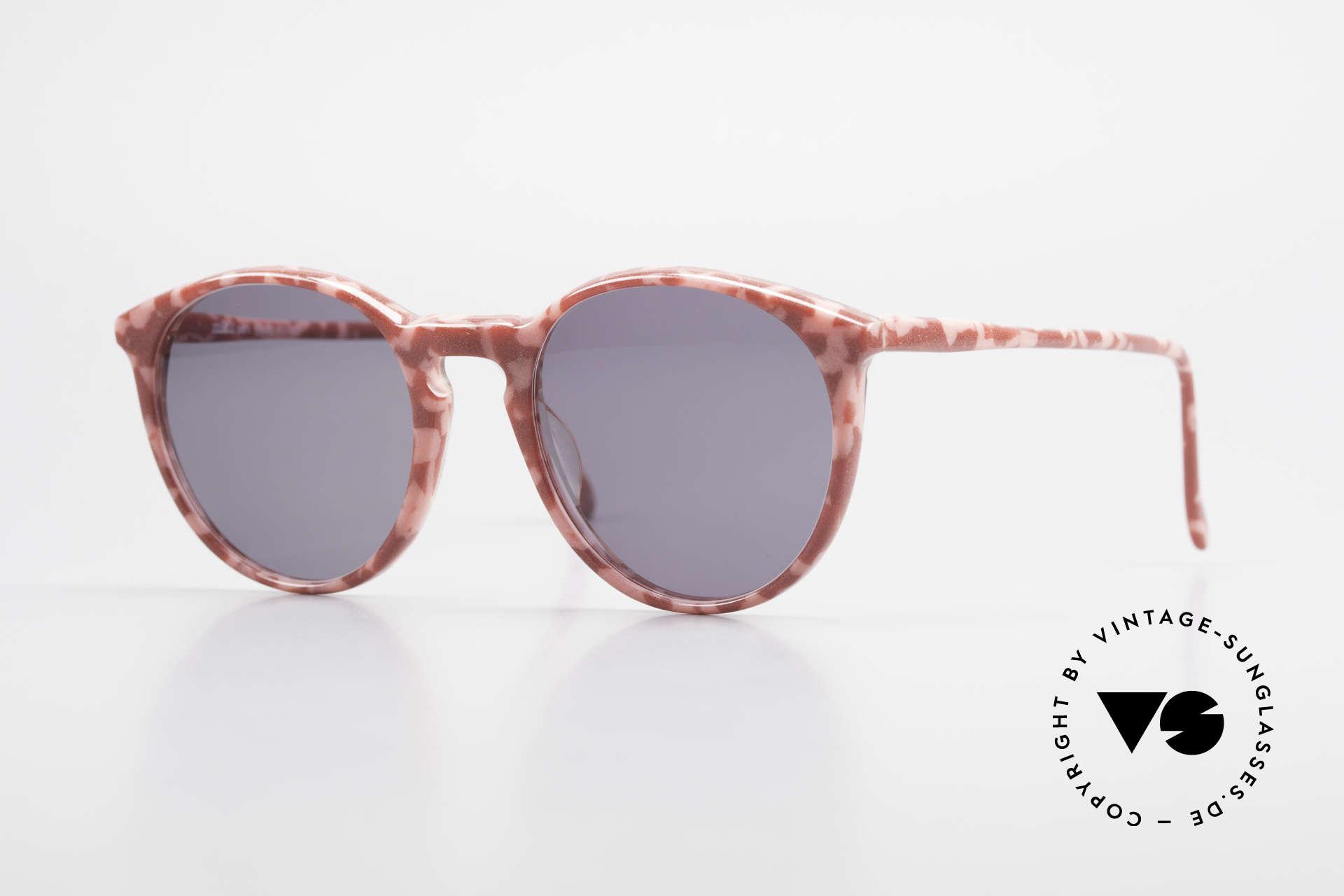 Alain Mikli 901 / 172 Panto Shades Red Pink Marbled, elegant VINTAGE Alain Mikli designer sunglasses, Made for Women