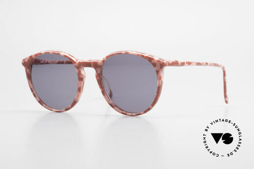 Alain Mikli 901 / 172 Panto Shades Red Pink Marbled Details