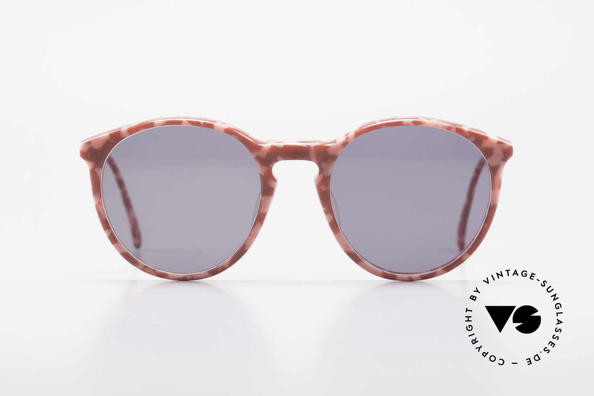 Alain Mikli 901 / 172 Panto Shades Red Pink Marbled, classic 'panto'-design with solid gray sun lenses, Made for Women