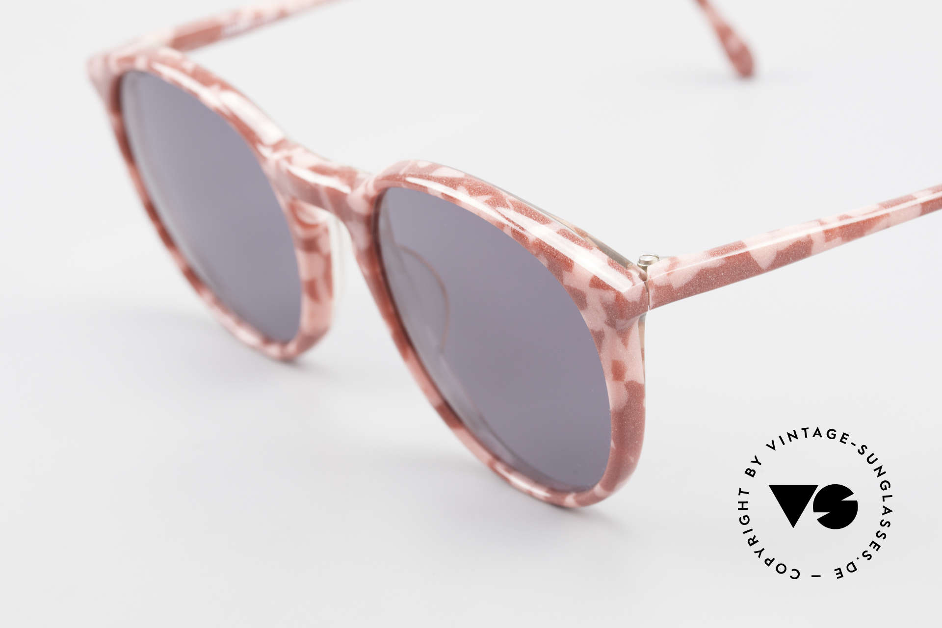 Alain Mikli 901 / 172 Panto Shades Red Pink Marbled, handmade quality and 125mm width = S - M size!, Made for Women