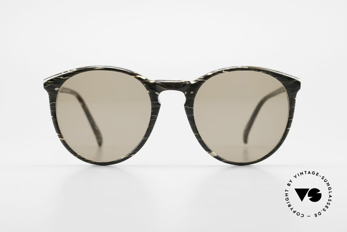 Alain Mikli 901 / 429 Brown Marbled Panto Shades, classic 'panto'-design with solid brown sun lenses, Made for Men and Women