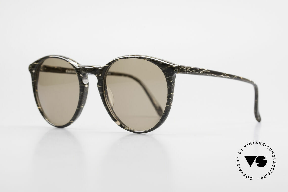 Alain Mikli 901 / 429 Brown Marbled Panto Shades, interesting frame pattern: brown / gray marbled, Made for Men and Women
