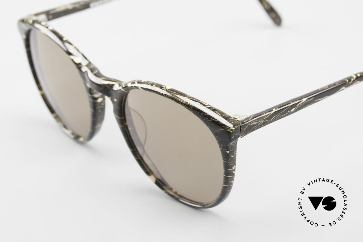 Alain Mikli 901 / 429 Brown Marbled Panto Shades, handmade quality and 121mm width = SMALL size, Made for Men and Women