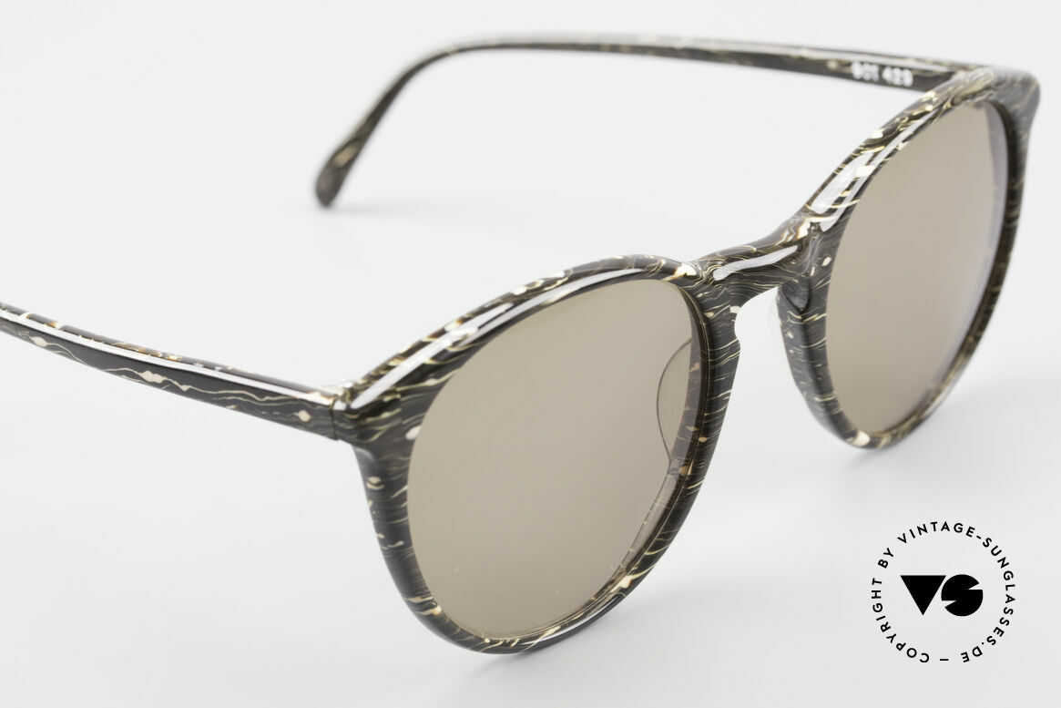 Alain Mikli 901 / 429 Brown Marbled Panto Shades, never worn (like all our vintage Alain Mikli specs), Made for Men and Women