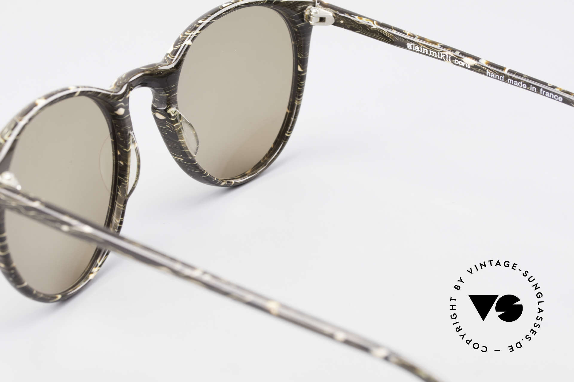 Alain Mikli 901 / 429 Brown Marbled Panto Shades, NO RETRO shades, but an old ORIGINAL from 1989, Made for Men and Women
