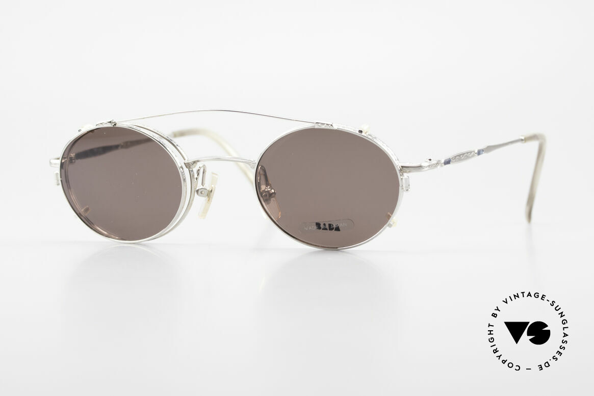 Bada BL1581 90's Eyeglasses With Clip On, rare, old vintage BADA sunglasses from the year 1996, Made for Men and Women