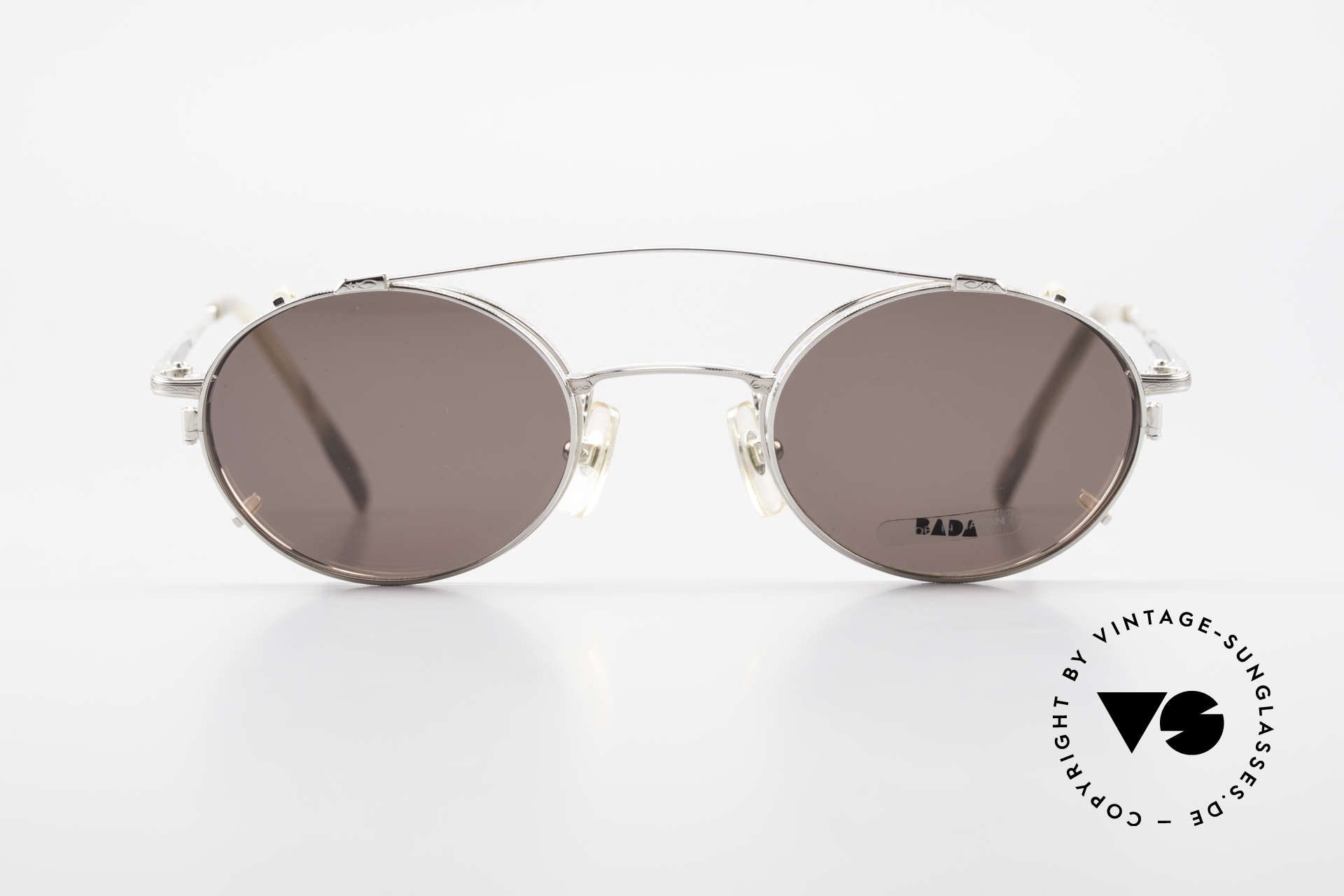Bada BL1581 90's Eyeglasses With Clip On, designed in Los Angeles and produced in Sabae (Japan), Made for Men and Women