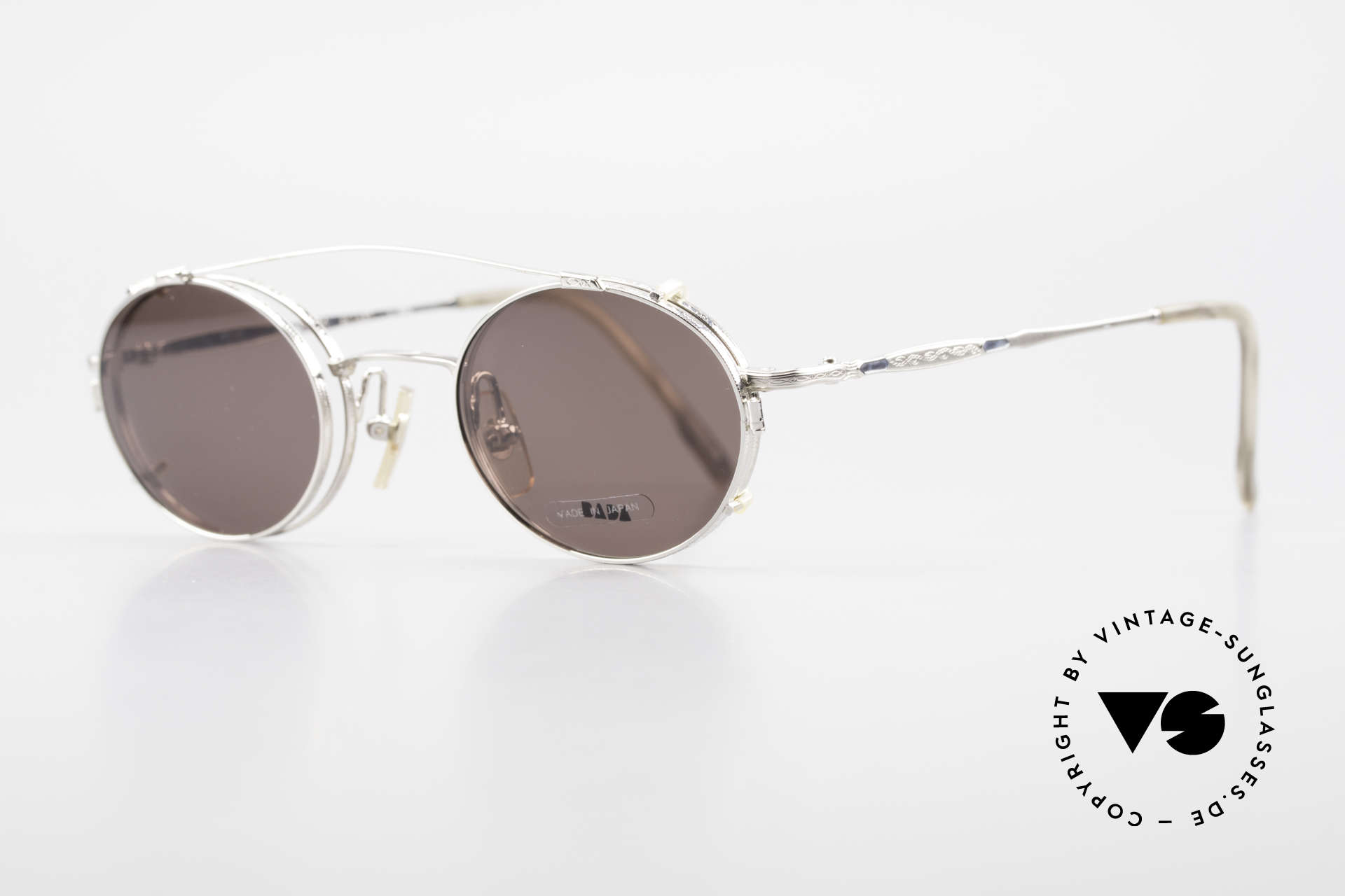 Bada BL1581 90's Eyeglasses With Clip On, made in the same factory like Oliver Peoples & Eyevan, Made for Men and Women