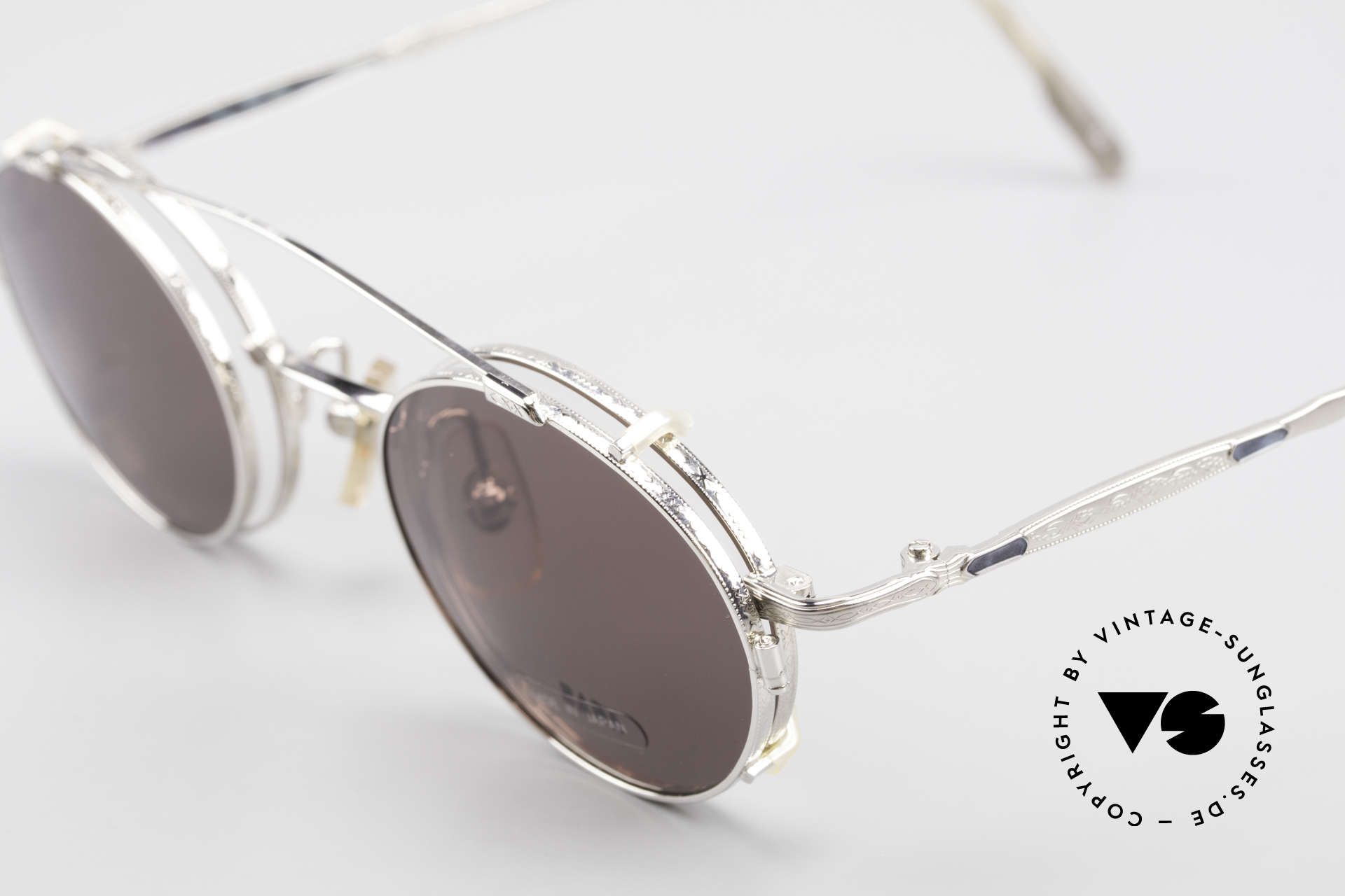 "Bada BL1581 90's Eyeglasses With Clip On, accordingly, the same TOP QUALITY / ""look-and-feel"", Made for Men and Women"