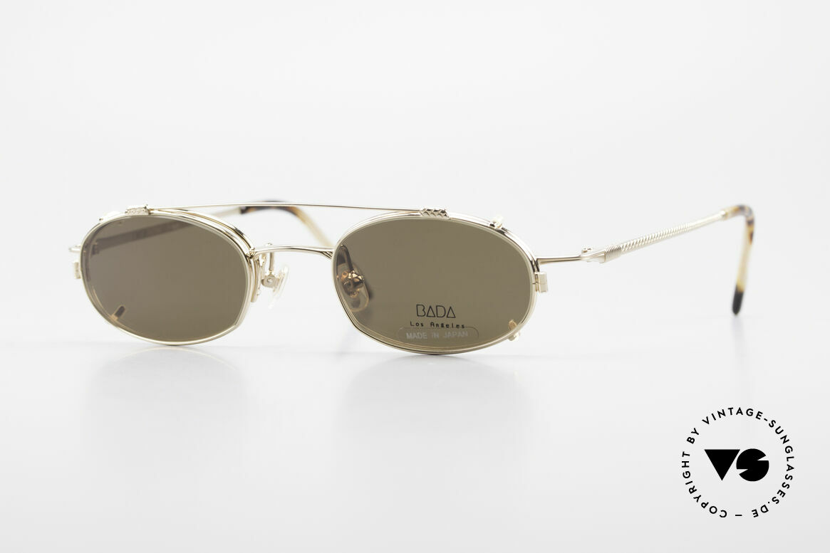 Bada BL1621 Rare 90's Glasses With Clip On, rare, old vintage BADA sunglasses from the year 1998, Made for Men and Women
