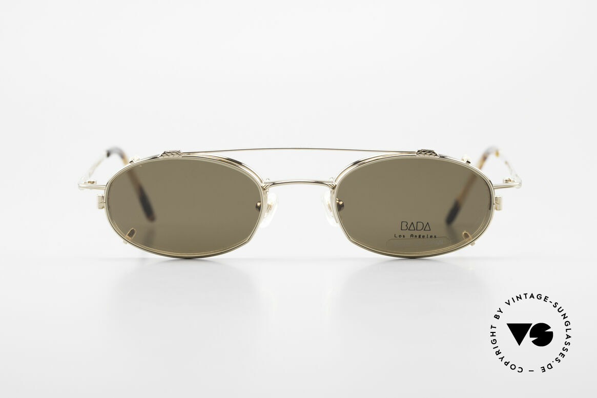 Bada BL1621 Rare 90's Glasses With Clip On, designed in Los Angeles and produced in Sabae (Japan), Made for Men and Women