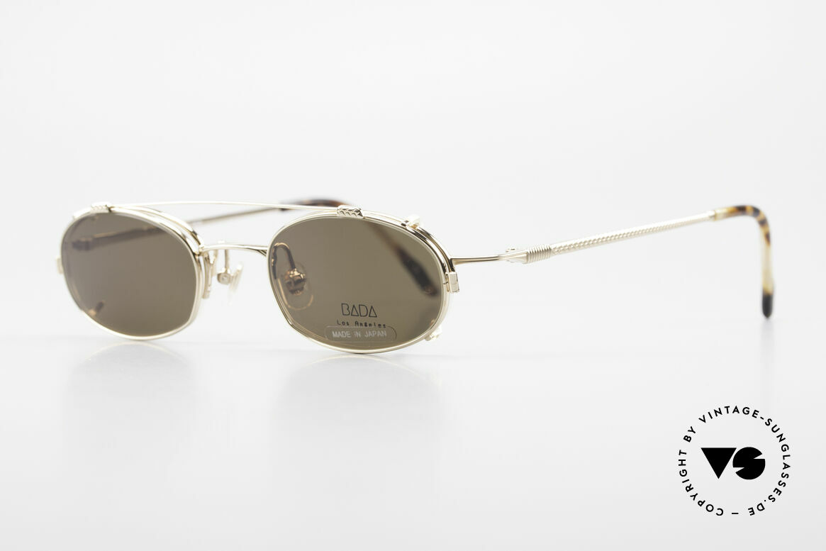 Bada BL1621 Rare 90's Glasses With Clip On, made in the same factory like Oliver Peoples & Eyevan, Made for Men and Women
