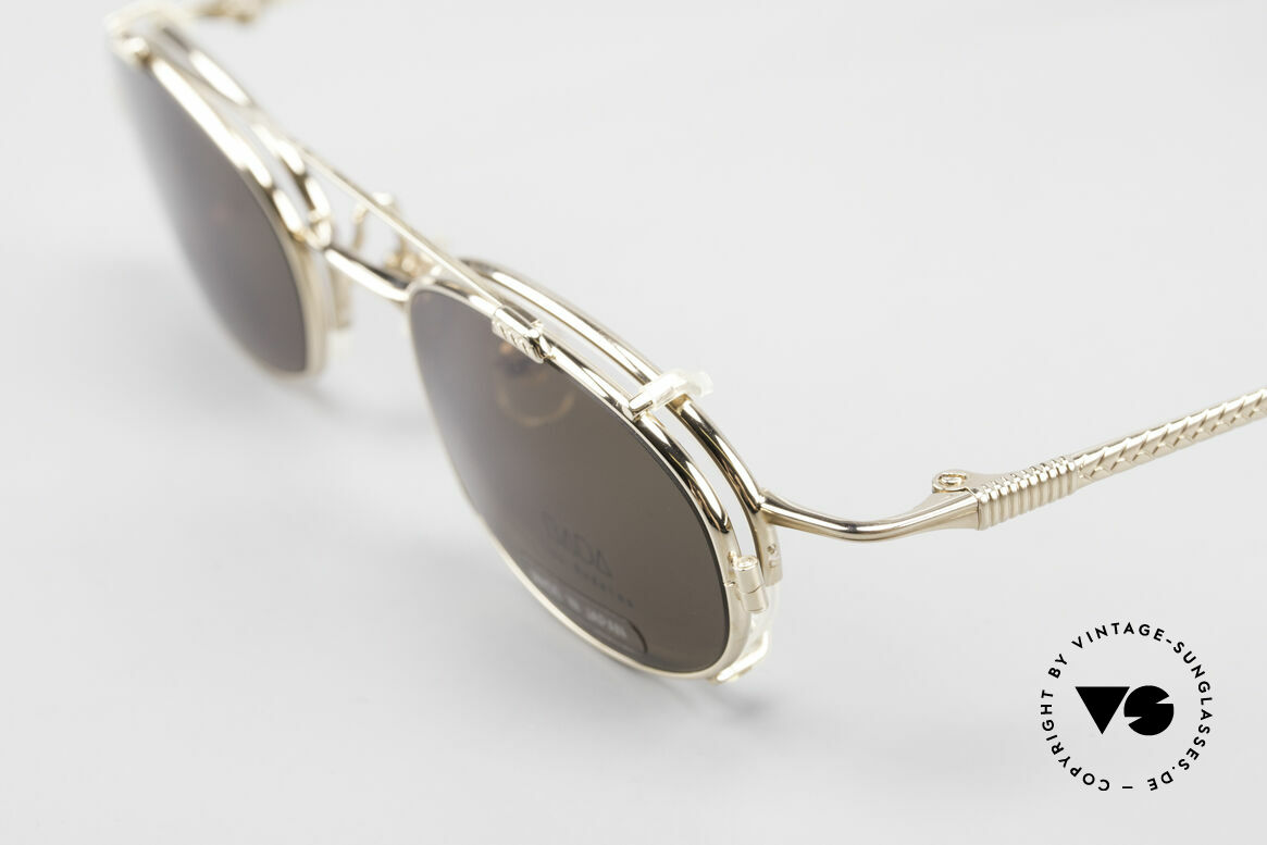 Bada BL1621 Rare 90's Glasses With Clip On, unworn, NOS (like all our old L.A.+ Sabae sunglasses), Made for Men and Women