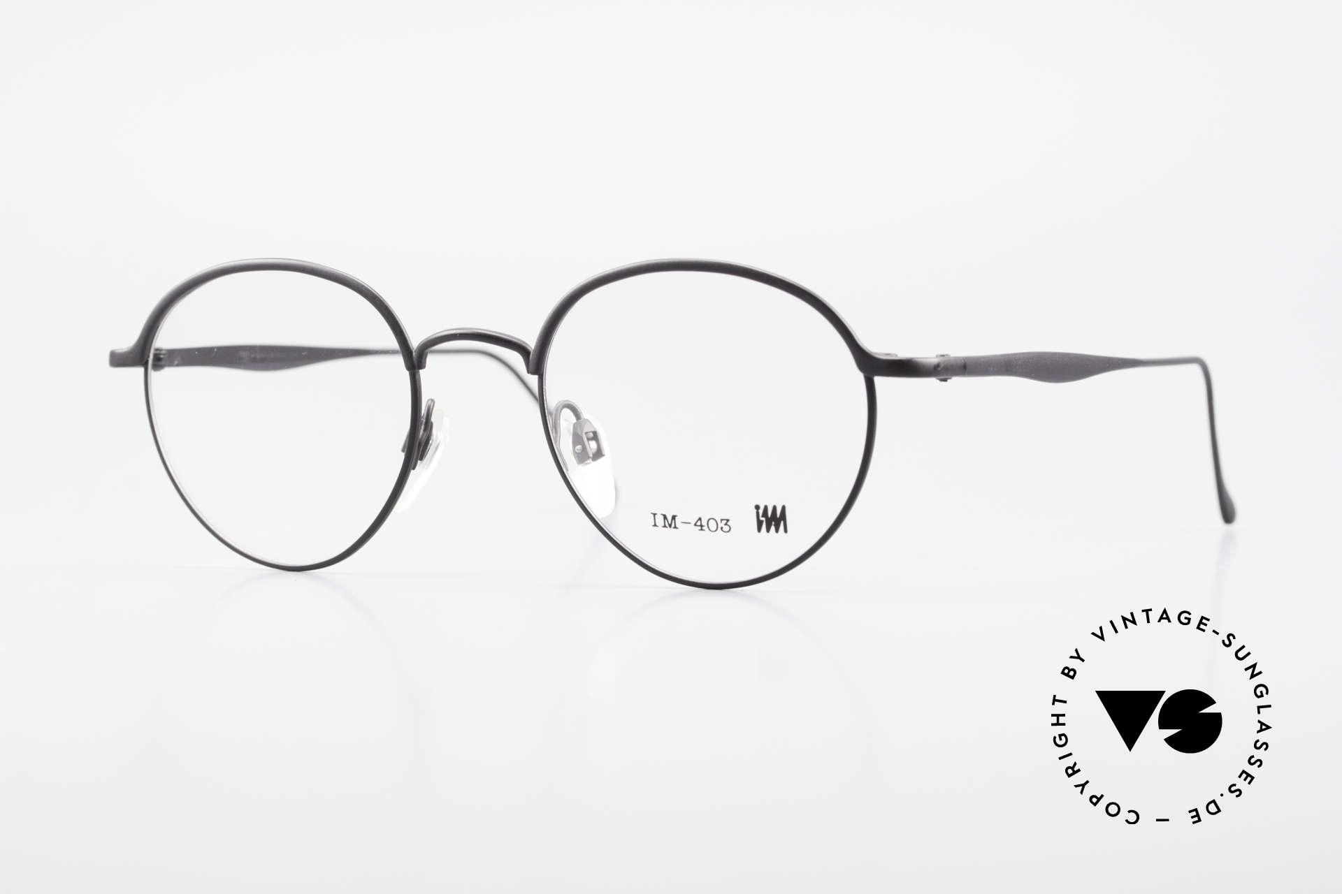 Miyake Design Studio IM403 Connoisseur Panto Glasses 90's, interesting PANTO style eyeglasses from 1995, Made for Men and Women