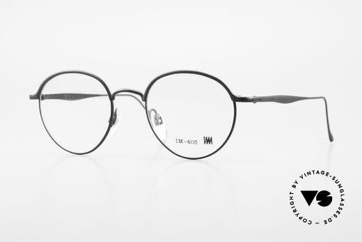 Miyake Design Studio IM403 Connoisseur Panto Glasses 90's Details