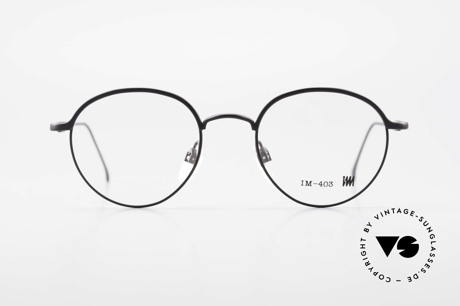 Miyake Design Studio IM403 Connoisseur Panto Glasses 90's, true INSIDER eyeglasses without big branding, Made for Men and Women