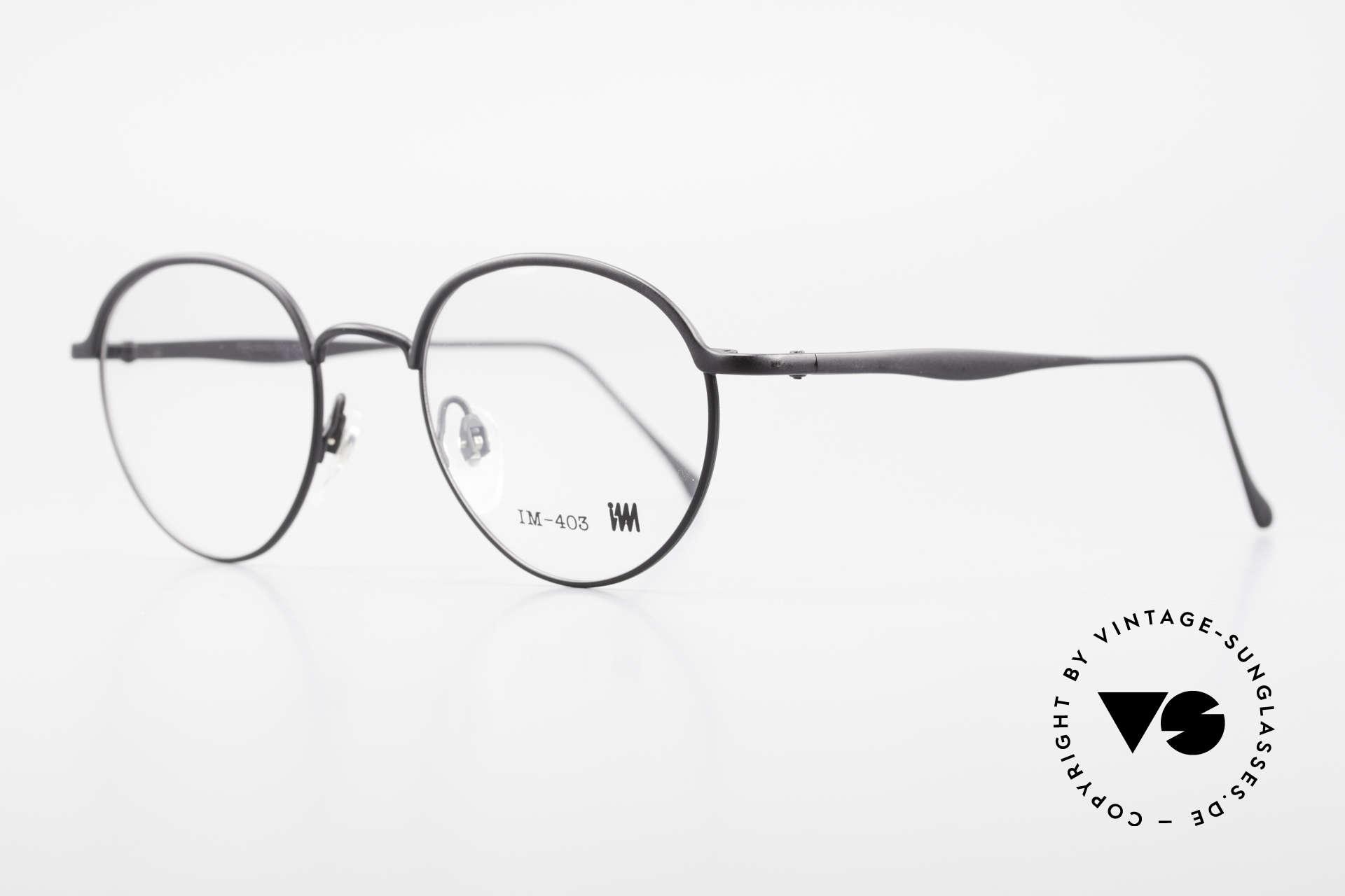Miyake Design Studio IM403 Connoisseur Panto Glasses 90's, MIYAKE Design Studio = Issey Miyake = I.M. 403, Made for Men and Women
