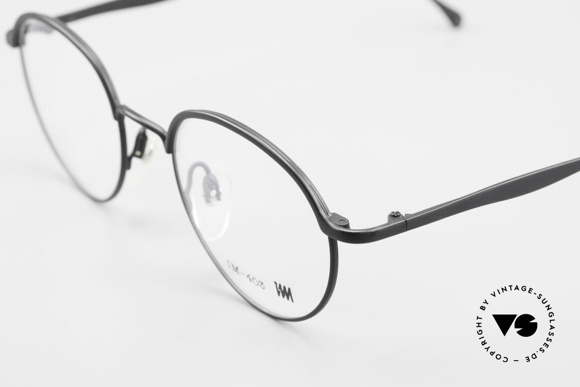 Miyake Design Studio IM403 Connoisseur Panto Glasses 90's, outstanding old craftsmanship (made in Japan), Made for Men and Women