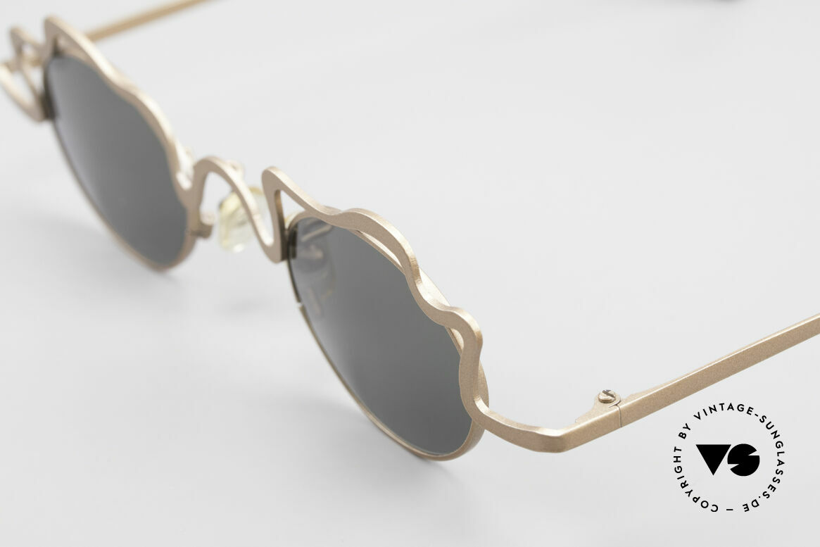 Theo Belgium Tortelini Spaghetti Sunglasses Ladies, Spaghetti Series from 1996: frame is shaped like noodles, Made for Women