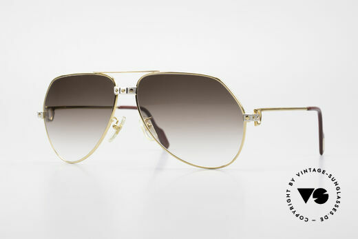 Cartier Vendome Santos - L Luxury Vintage Aviator Frame Details