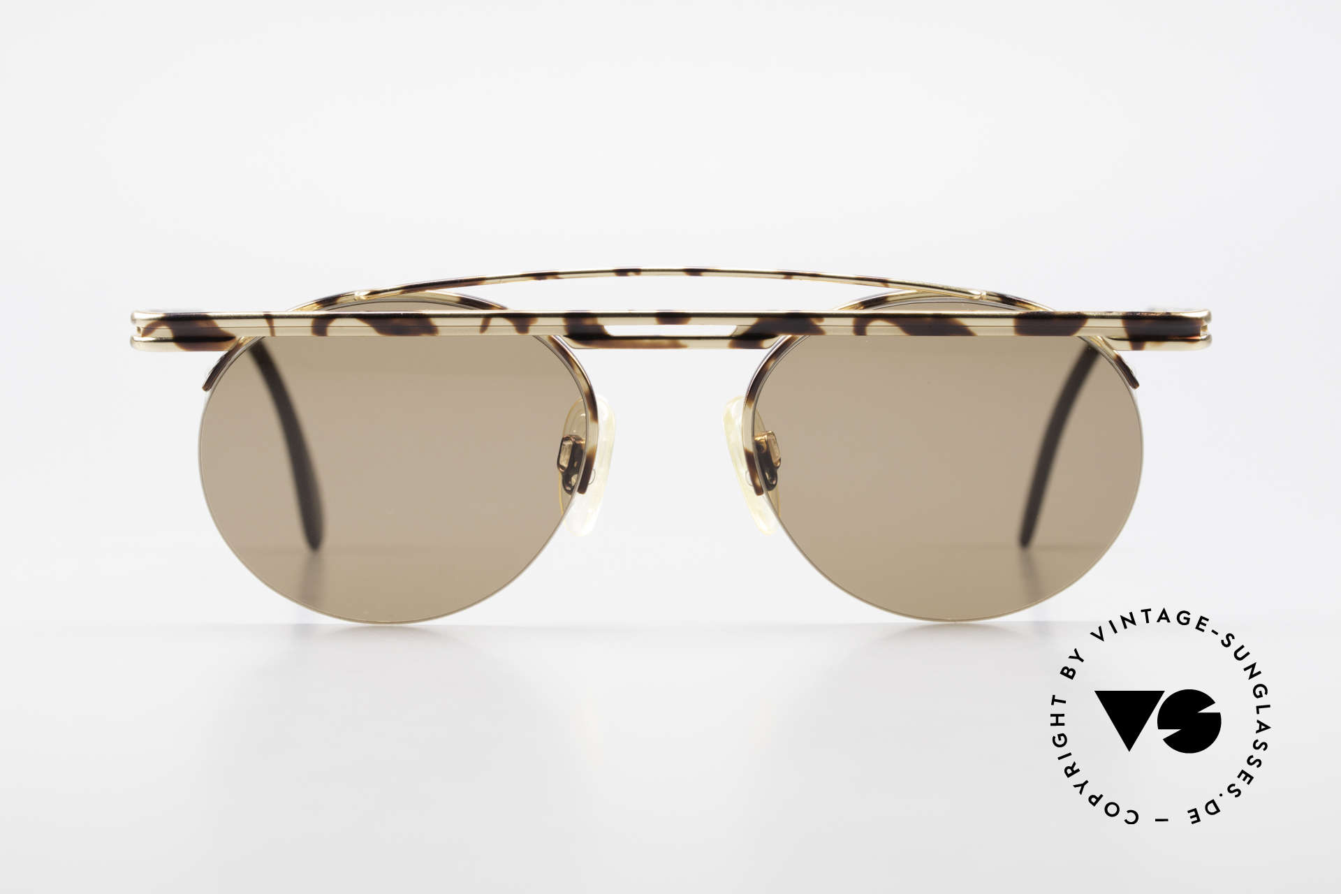 Cazal 748 Rare Vintage No Retro Shades, great geometrical play (round & square, at the same time), Made for Men and Women