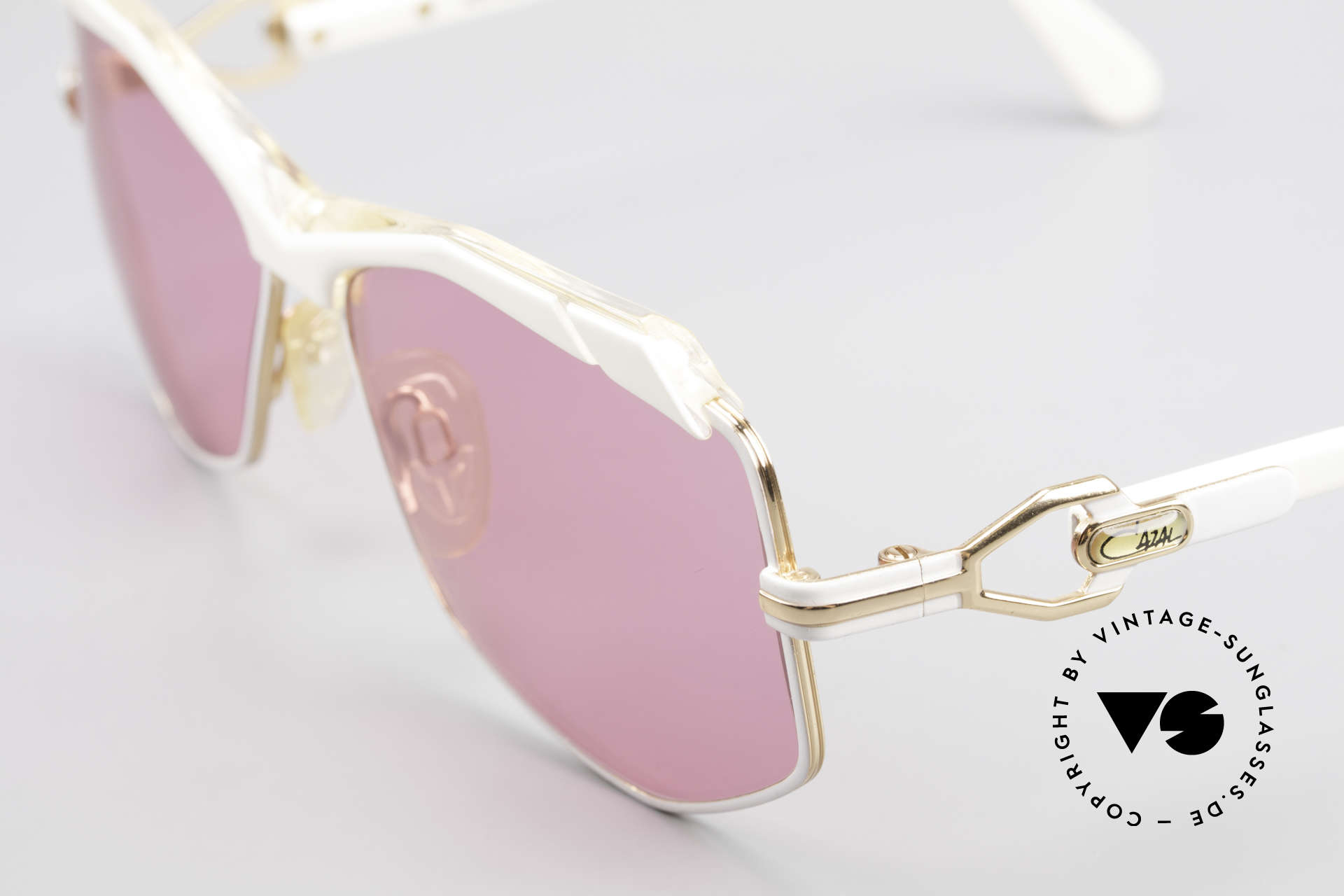 Cazal 230 Pink Cazal Sunglasses 80's, new old stock (like all our rare vintage Cazals), Made for Women