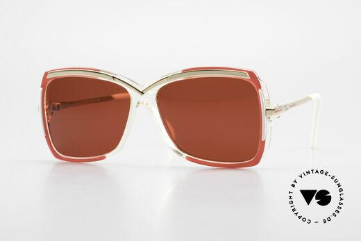 Cazal 177 3D Red Designer Sunglasses Details