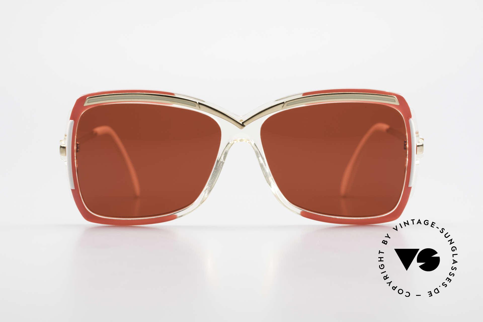 Cazal 177 3D Red Designer Sunglasses, a unique old designer piece and a true eye-catcher, Made for Women